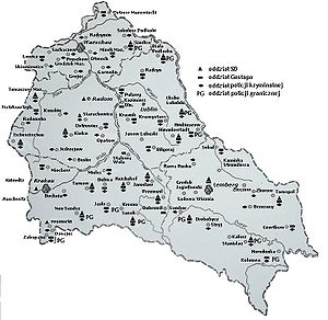 Borders of the General-Gouvernement, August 1941