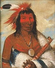 Wá-nah-de-túnk-ah, Big Eagle (or Black Dog), Chief of the O-hah-kas-ka-toh-y-an-te Band