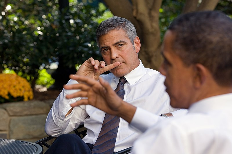 President Obama and George Clooney