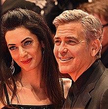Clooney con la moglie Amal Alamuddin alla 66ª edizione della Berlinale (2016)