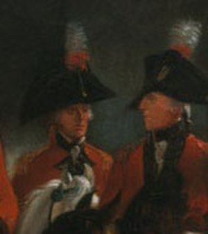 David Dundas (British Army officer) - Dundas (left) with Philip Goldsworthy from George III Reviewing Troops (1798).