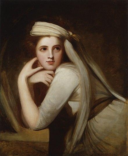 George Romney - Lady Hamilton (as a Bacchante) 2
