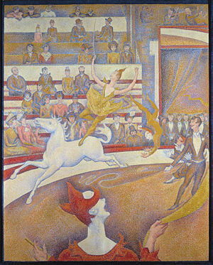 The Circus, by Georges Seurat, painted 1891. O...