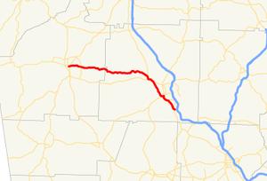Georgia State Route 293 - Image: Georgia state route 293 map