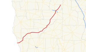 Georgia State Route 91 - Image: Georgia state route 91 map