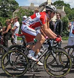 Geraint Thomas - Thomas during the first stage of the 2007 Tour de France