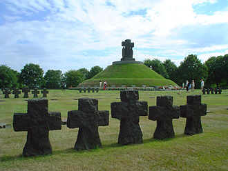 Tumulus - La Cambe German war cemetery