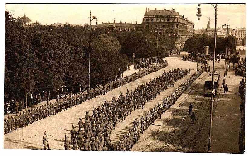 German troops Riga 1917