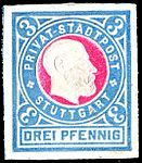 Germany Stuttgart 1889 local stamp 3pf - special issue.jpg