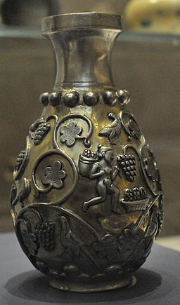 Gilded silver Sassanid vase by Nickmard Khoey