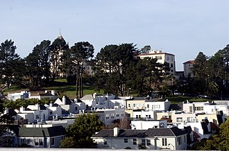Residence halls at the University of San Francisco - Image: Gillsonview