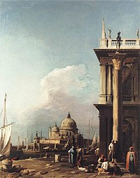 Giovanni Antonio Canal, il Canaletto - Venice - The Piazzetta Looking South-west towards S. Maria della Salute - WGA03871.jpg