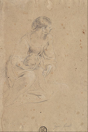 Giuseppe Bonati - Study of a Female Figure, 1665