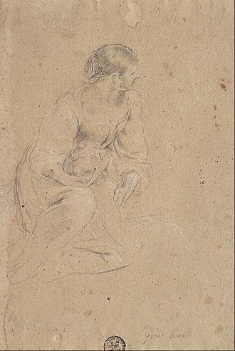 Giuseppe Bonati - Study of a Female Figure, 1665
