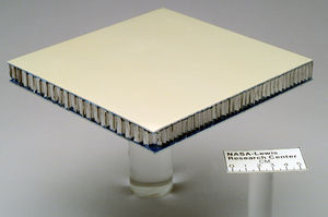 Sandwich-structured composite - Composite sandwich structure panel used for testing at NASA