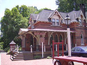 Glen Mills station - Restored Glen Mills Station