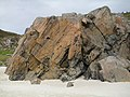 Gneiss rocks on the beach at Achmelvich - geograph.org.uk - 1461641.jpg