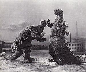 Anguirus - Anguirus and Godzilla in Godzilla Raids Again