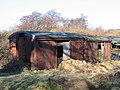 Goods vans used as sheds at Low Common - geograph.org.uk - 133506.jpg