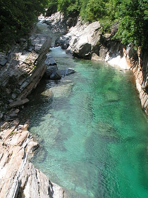 "Verzasca means ""Green Water"""