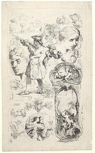 Hubert-François Gravelot - Image: Gravelot etching in V&A