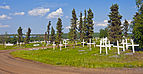Graves in cemetery south of Inuvik, NT.jpg