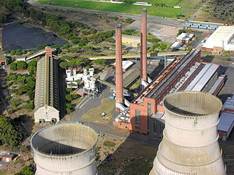 Electric power industry - The Athlone Power Station in Cape Town, South Africa