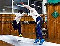 Greek Epee Fencers. The bout between Agapitos Papadimitriou (left) and Ilias Konstantinidis (right) at Athenaikos Fencing Club.jpg
