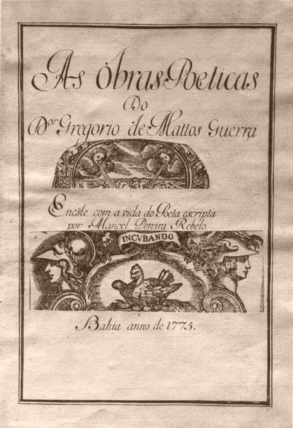 Gregório de Matos 1775