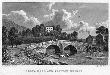 Greta Hall, Keswick - home of Samuel Taylor Coleridge, 1800-1804; home to Robert Southey, 1803-1843 Greta Hall.jpg