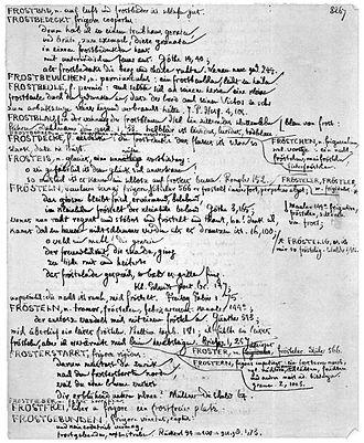 Deutsches Wörterbuch - Original manuscript of the Deutsches Wörterbuch by Jacob Grimm