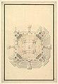 Ground Plan for a Catafalque for a Duke de Berri, probably Charles, Duke de Berri, Grandson of Louis XIV, and 3rd son of Louis, the Dauphin (1685-1714) MET DP820097.jpg