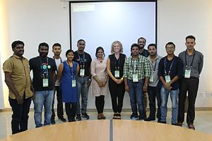 Katherine Maher - Image: Group photo of Wikimedians Meetup With Katherine Maher Wiki Conference India CGC IMG 5330
