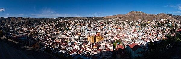Panorama of Guanajuato City