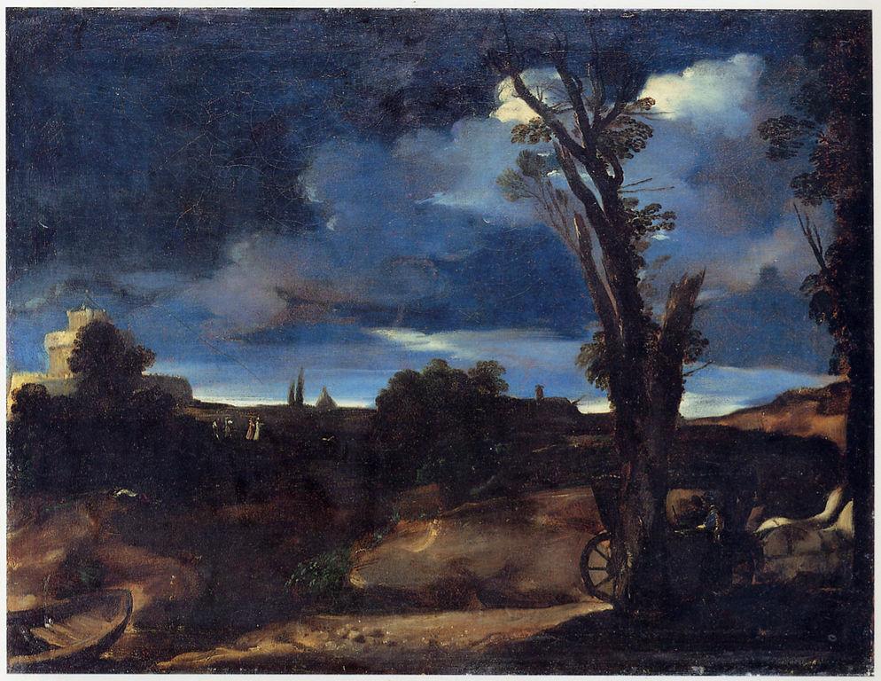 File guercino paesaggio al chiaro di wikipedia - Il giardino al chiaro di luna ...