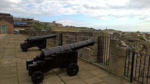 Clifford's Fort - Guns on the fort, looking towards Tynemouth