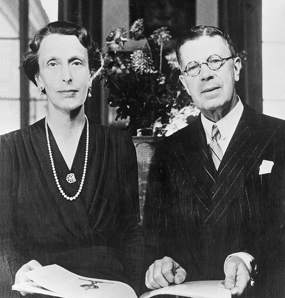 Gustaf Adolf and Louise of Sweden 1945