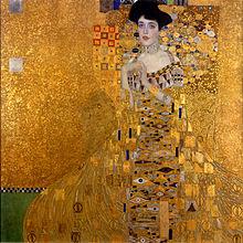 Προσωπογραφία της Adele Bloch-Bauer I, 1907, Λάδι, χρυσός και άργυρος σε μουσαμά, 138 x 138 εκ., Neue Galerie, Νέα Υόρκη