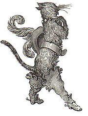 Grabado de Gustave Doré para El gato con botas