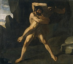 Antaeus - Hercules Fighting Antaeus (1634), by Francisco de Zurbarán