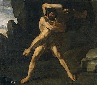 Antaeus - Hercules Fighting Antaeus (1634), by Francisco de Zurbarán
