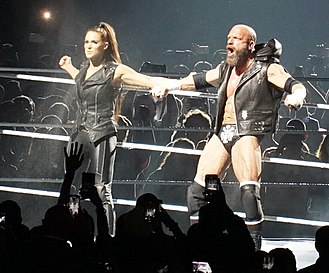 Stephanie McMahon - McMahon with her husband Triple H at WrestleMania 34