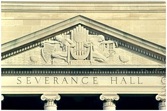 Severance Hall - Pediment sculpture by Henry Hering