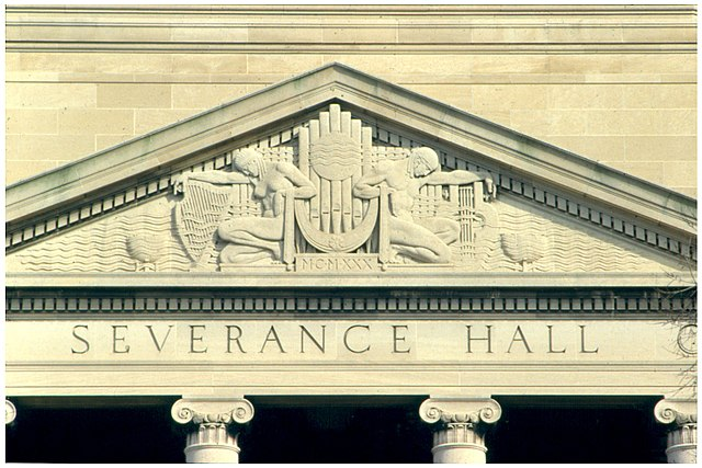Pediment on Severance Hall