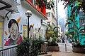 HK 上環 Sheung Wan 太平山街 Tai Ping Shan Street 水巷 Water Lane back Graffit wall painting old woman face April 2018 IX2 01.jpg