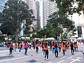 HK 中環 Central 遮打道 Chater Road Sunday morning visitors dancing December 2019 SSG 04.jpg