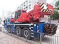 HK 牛頭角道 Ngau Tau Kok Road blue Liebherr crane truck parking November 2018 SSG 04.jpg
