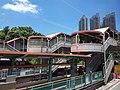 HK Bus 962 view 屯門鄉事會路 Tuen Mun Heung Sze Wui Road August 2018 SSG footbridge n MTR Light Rail station.jpg