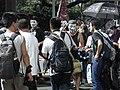 HK Causeway Road July 1 march 2010 面具人 Mask team members 02.JPG