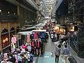 HK CityBus 10 tour view Central 利源西街 Li Yuen West Street clothing outdoor market stalls Mar-2014 ZR2.JPG